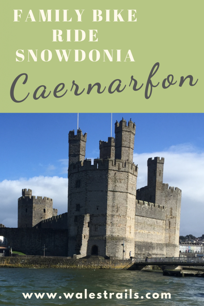 View of Caernarfon Castle from across the estuary