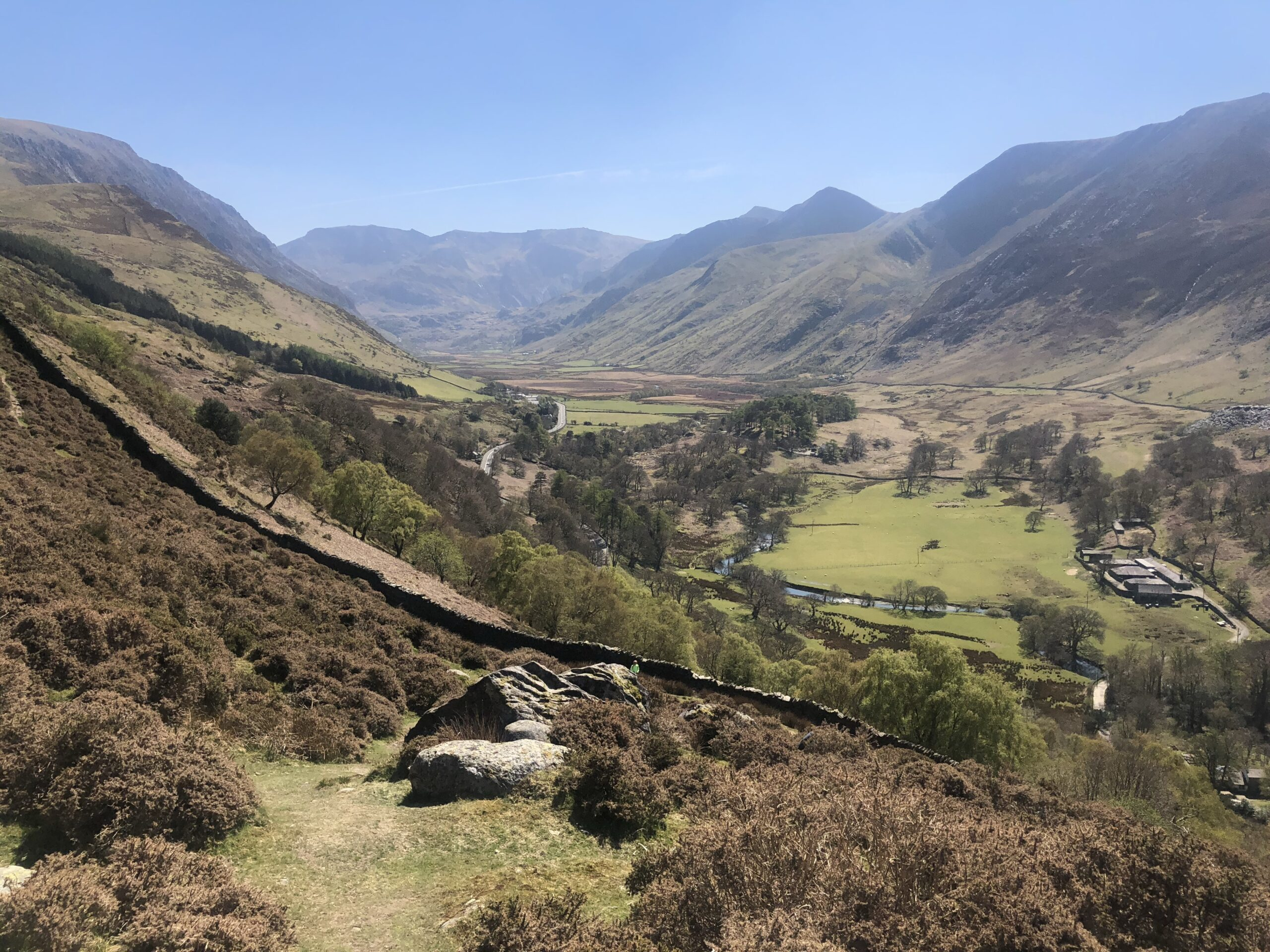 View of the Ogwen Valley